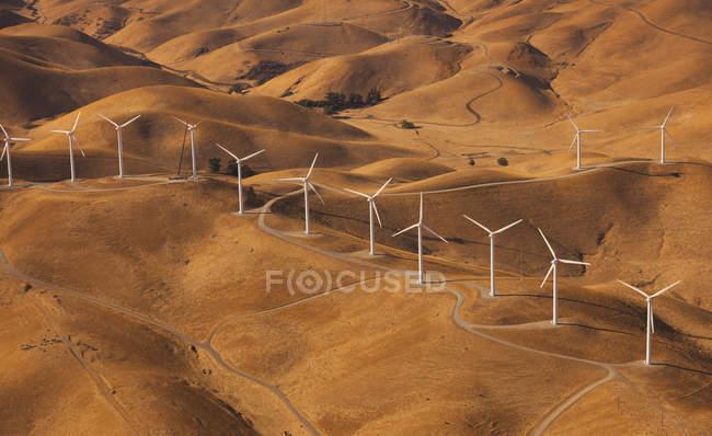 Wind generators in the landscape — Stock Photo