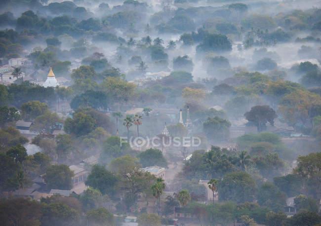Pianura di pagode in Myanmar — Foto stock