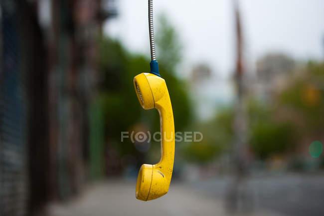 Ricevitore telefonico abbandonato — Foto stock