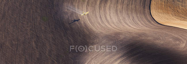 Ploughed fields and furrows — Stock Photo
