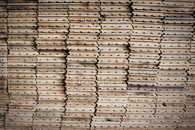 Planks of wood for re-use. — Stock Photo