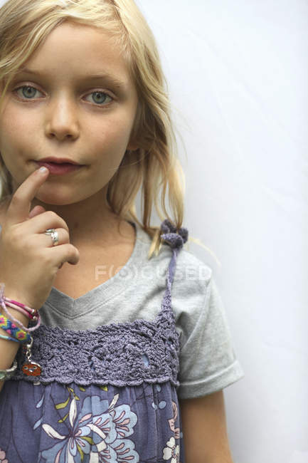 Young girl with blue eyes. — Stock Photo