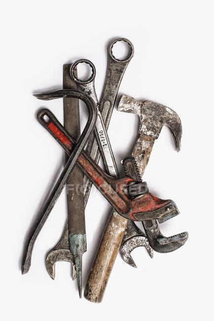Натяжителі, регульована гайковий ключ і молотових. — стокове фото