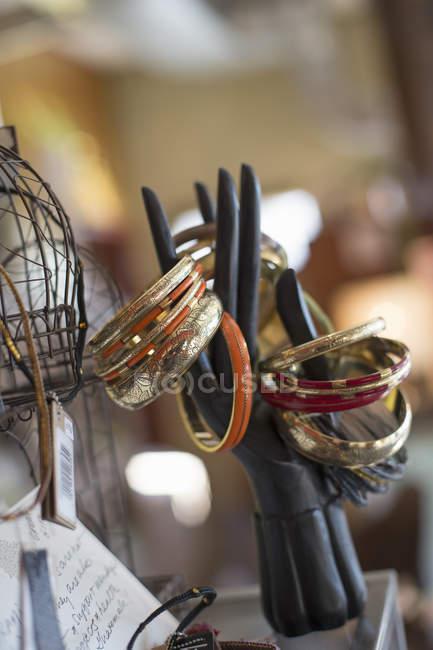 Display of rings and bangles — Stock Photo