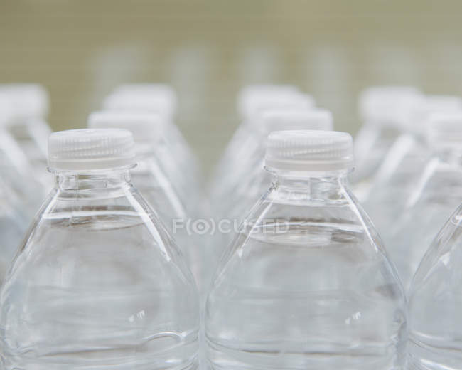 Water-filled plastic bottles — Stock Photo