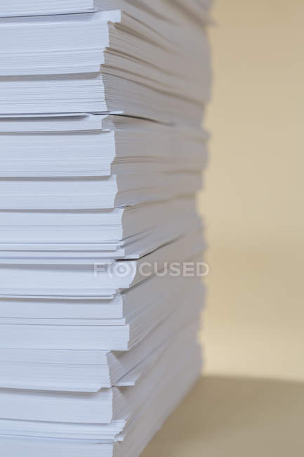 Stack of recycled white paper — Stock Photo