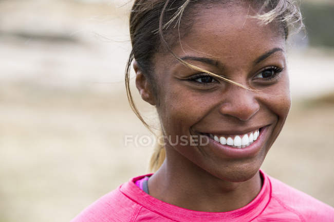 Smiling young woman. — Stock Photo