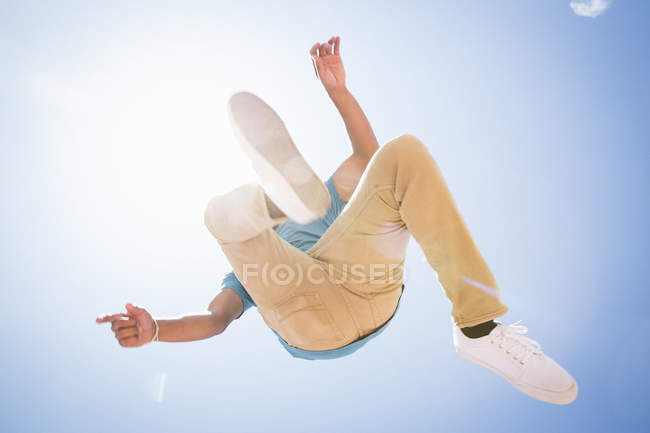 Man jumping in the air. — Stock Photo
