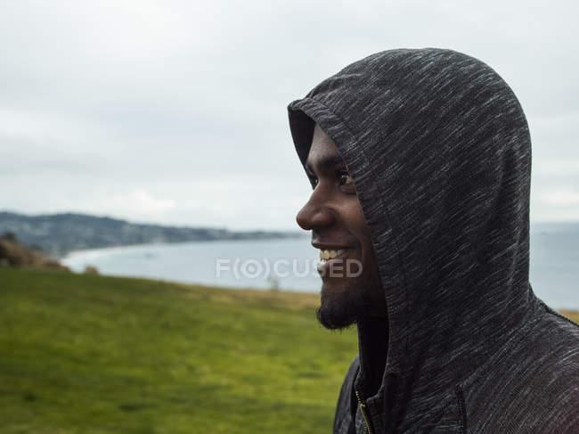 Men wearing a hoodie. — Stock Photo