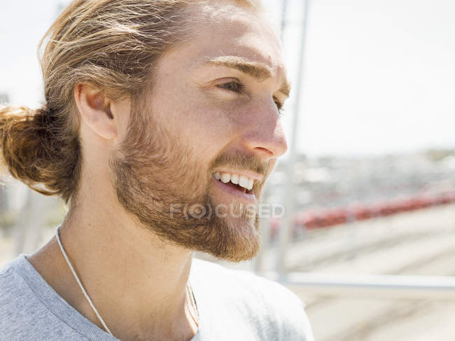 Young man with beard — Stock Photo