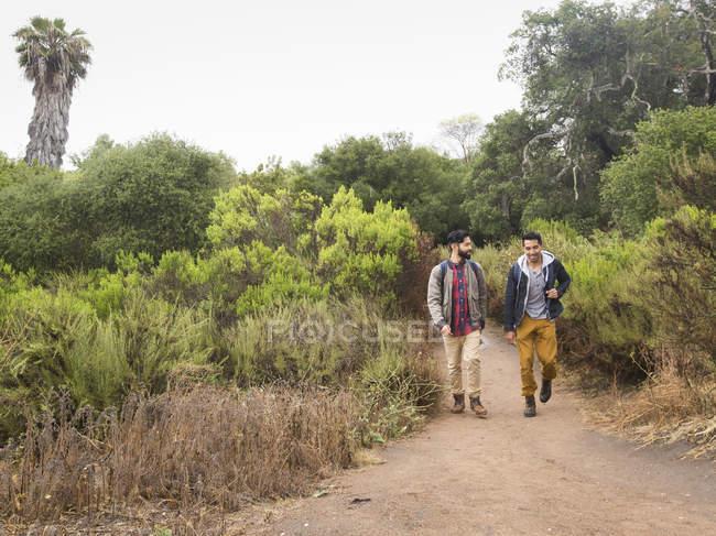 Men walking in a park. — Stock Photo
