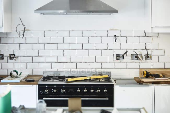 Cuisine nouvellement installée — Photo de stock