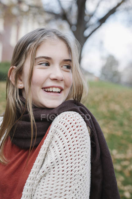 Teenage girl laughing — Stock Photo