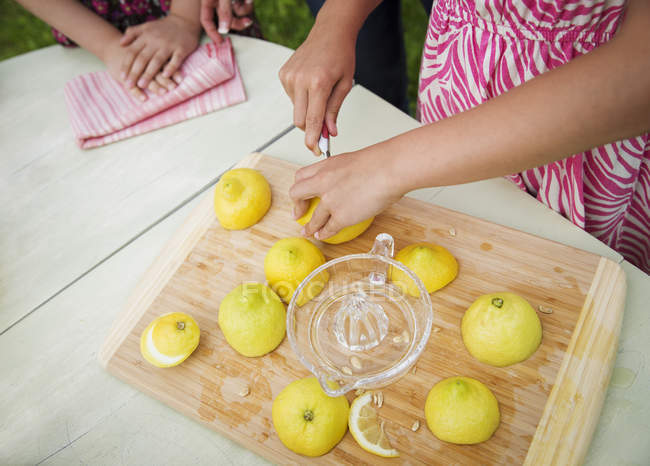 Tabletop chopping board — Stock Photo