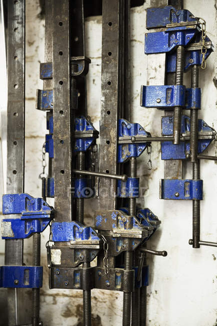 Selezione di fascette metalliche — Foto stock
