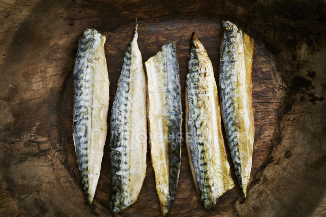 Smoked fish fillets — Stock Photo