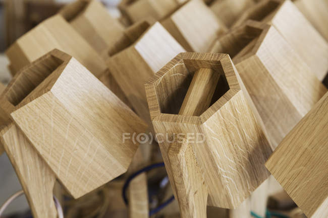 Close up of hexagonal, wooden — Stock Photo