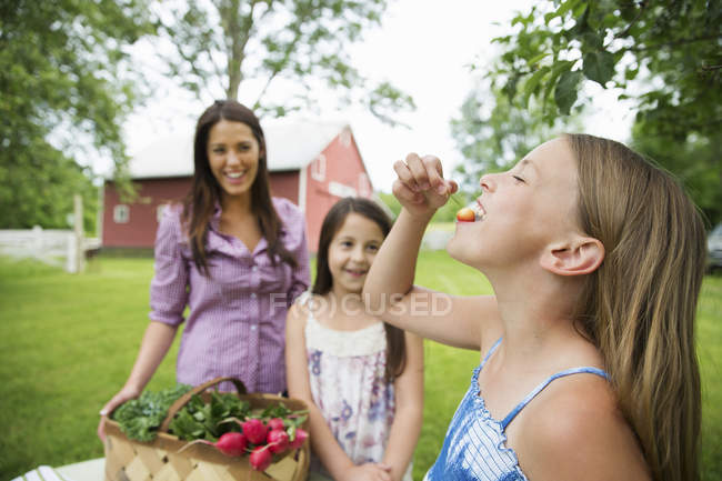 Summer family gathering at a farm. — Stock Photo