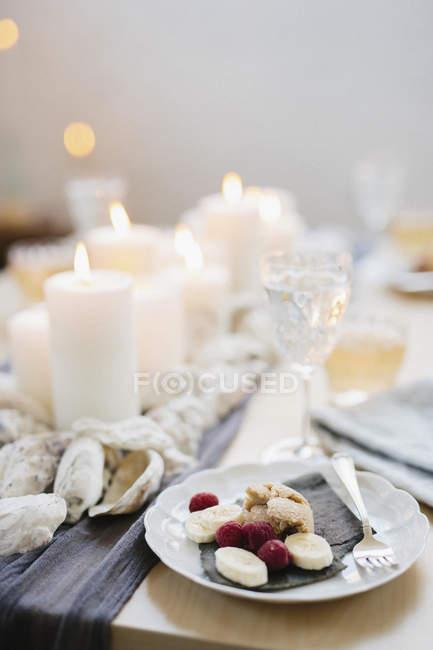 Tisch für Feier Mahlzeit — Stockfoto