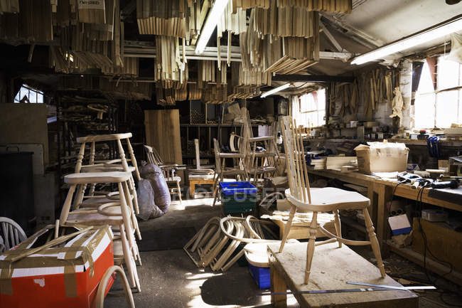 Interior of carpentry workshop — Stock Photo