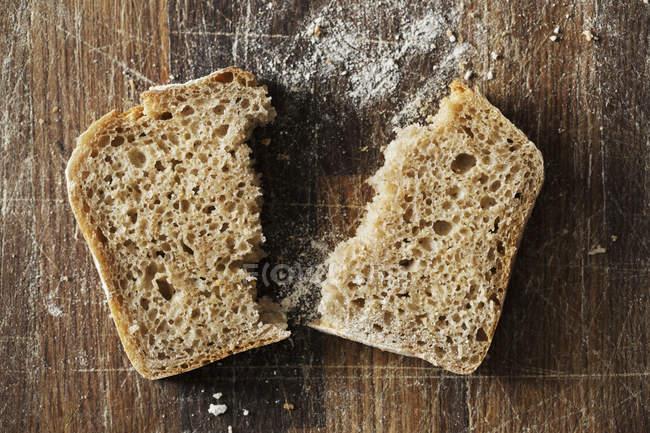 Freshly baked slice of bread. — Stock Photo