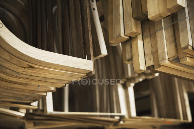 Wooden furniture pieces — Stock Photo