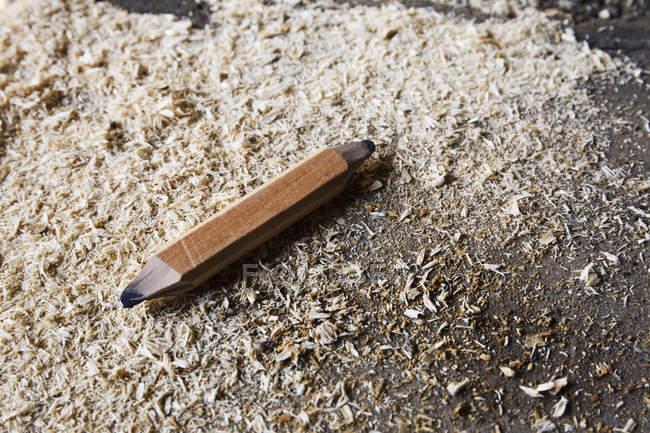 Nahaufnahme eines Tischlerstifts — Stockfoto