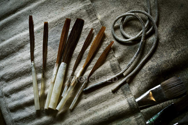 Brushes and hand tools. — Stock Photo