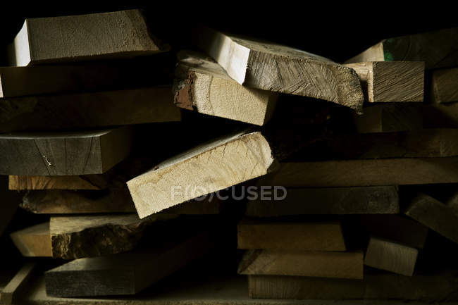 Pezzi segati di legno — Foto stock