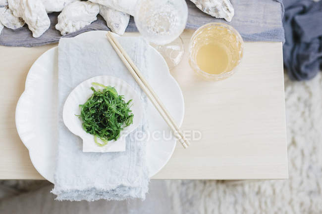Table laid for meal — Stock Photo