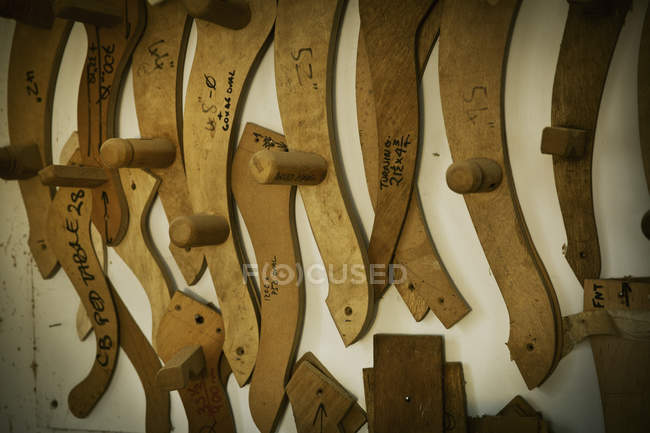Wooden chair arm rest templates — Stock Photo