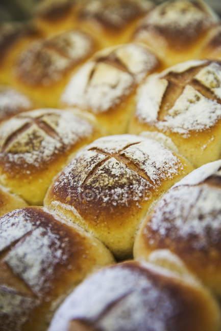 Lot fariné pains — Photo de stock
