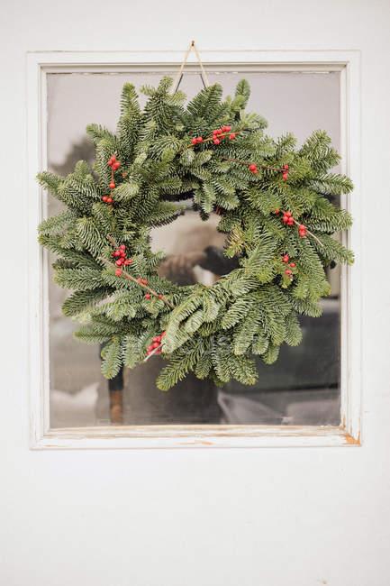 Різдвяні вінки на двері. — стокове фото