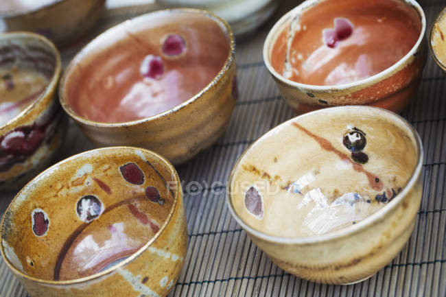 Fired ceramic bowls — Stock Photo