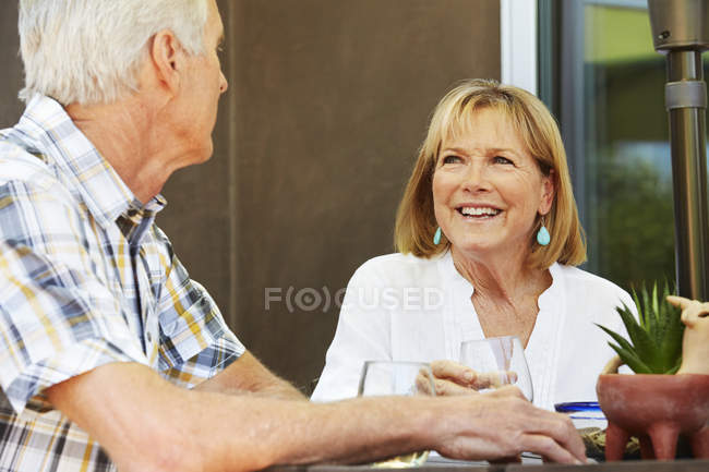 Senior woman and man — Stock Photo