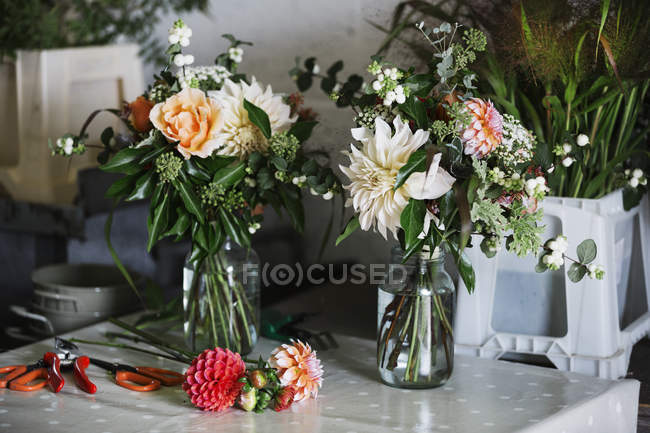 Hand tied bouquet. — Stock Photo