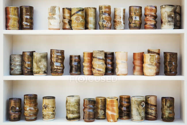 Glazed ceramic pots — Stock Photo