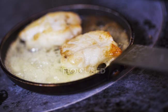 Гребінці в сковороду — стокове фото