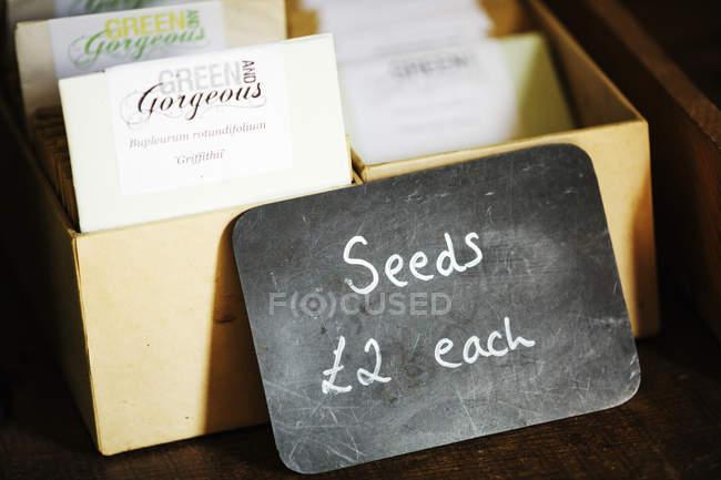 Samentüten für Verkauf — Stockfoto