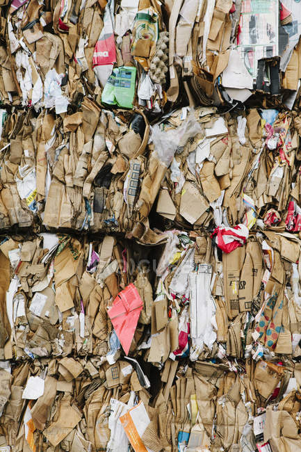Recycling facility with bundles — Stock Photo
