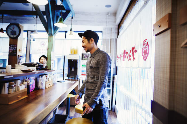 Ramen noodle cafe in a city. — Stock Photo