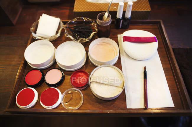 Reispulver, Rouge und loses Pulver — Stockfoto
