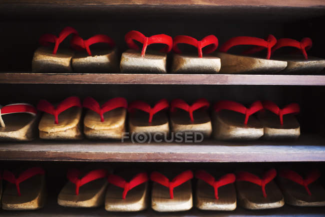 Traditional wooden sandals — Stock Photo