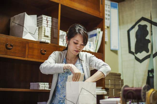 Small artisan producer of wagashi — Stock Photo