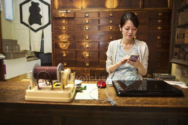 Negozio tradizionale di dolci wagashi . — Foto stock