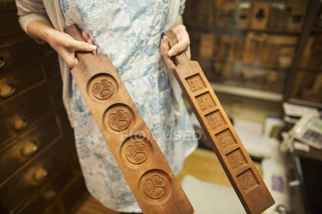 Kleine Handwerker Hersteller von wagashi — Stockfoto