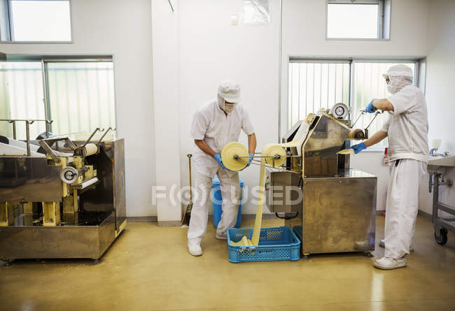 Soba noodle factory. — Stock Photo