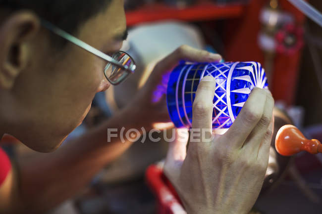 Craftsman glass maker — Stock Photo
