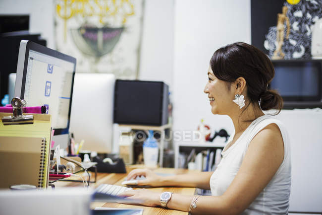 Woman working in Design Studio. — Stock Photo