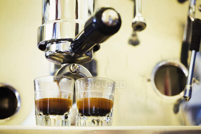 Close up of espresso machine — Stock Photo